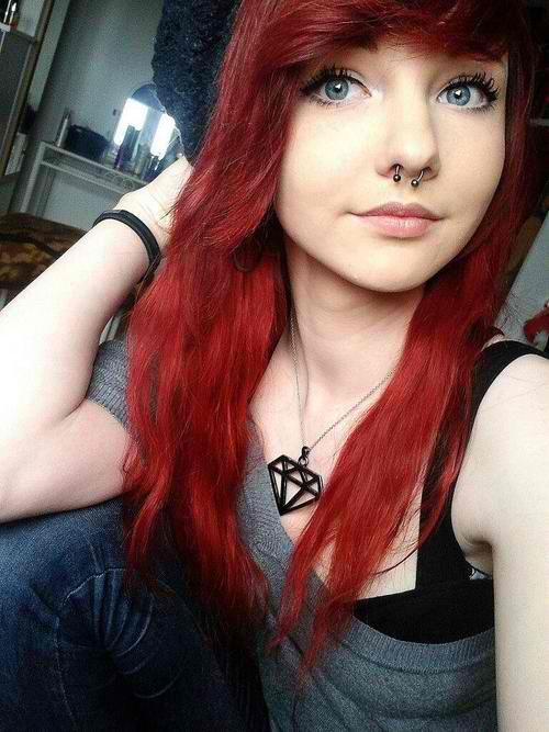 dark red hair tumblr - Google Search Hurr Pinterest Red Hair ...