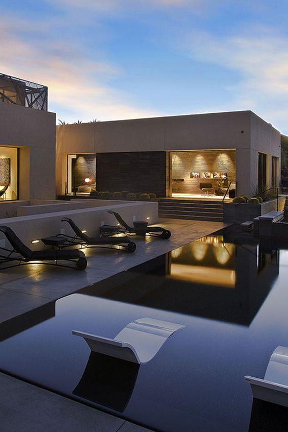 Iluminaci n exterior piscinas and al aire libre on pinterest for Iluminacion exterior fachadas