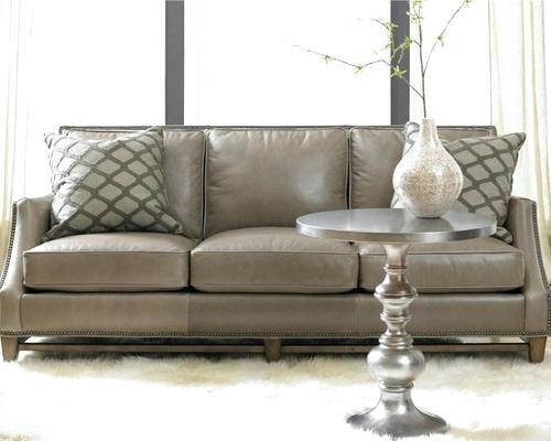 Taupe Leather Sofa Bradington Young