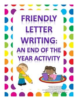 $1.50 Friendly Letter Writing - End of the Year Activity