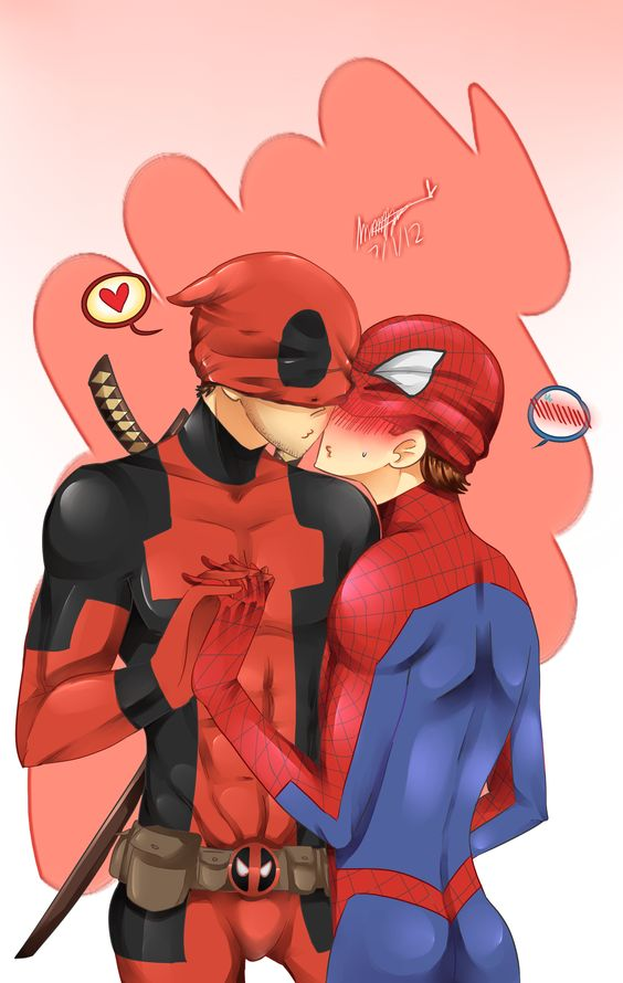Spideypool by *Stained-Scarlet on deviantART