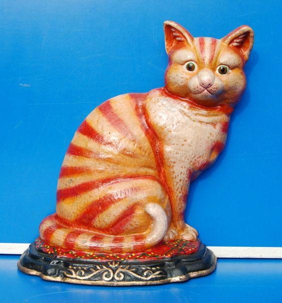 Tür Stopper, Dekofigur - Katze, edel handbemalt | eBay