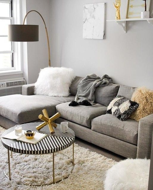 Urban 2 Piece Chaise Sectional In 2020 Living Room Decor Apartment Gold Living Room Small Apartment Living Room