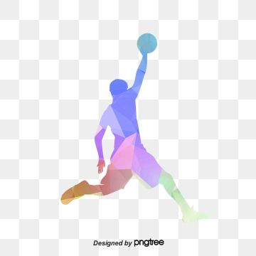 Color Geometric Basketball Player Dunk Posture Basketball Clipart Color Athletes Geometric Basketball Player Png Transparent Clipart Image And Psd File For F Basketball Players Basketball Clipart Senior Gifts
