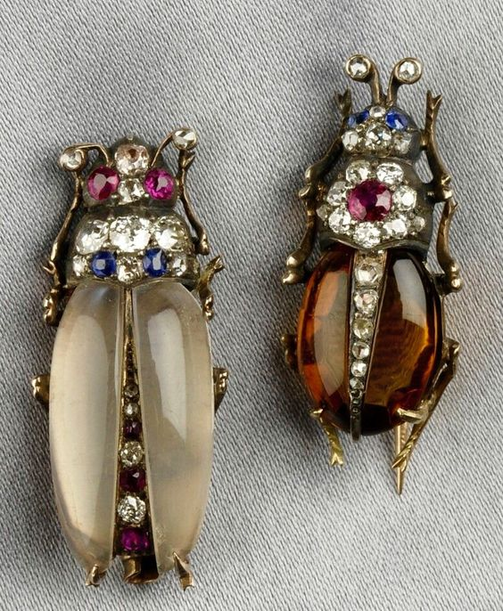 Gem-Set Insect Brooches