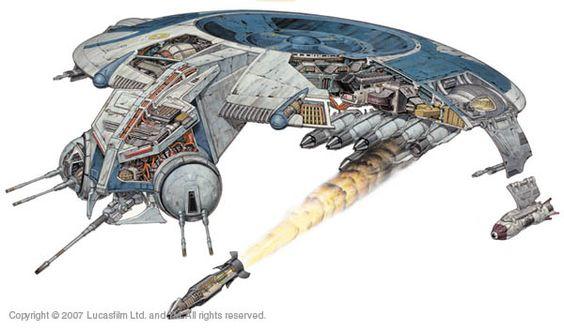 droid gunship schematicscutawaysblueprints pinterest star wars republic gunship