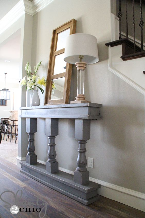 Foyer And Entryways Pub : Diy console table entryway legs and instagram