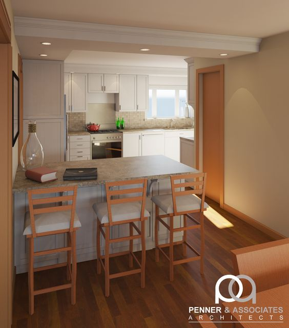 This project re thinks an existing closed off kitchen by for Dining room off kitchen