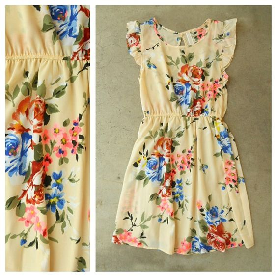 Floral All Over Dress <3 #floralprint #summerdress