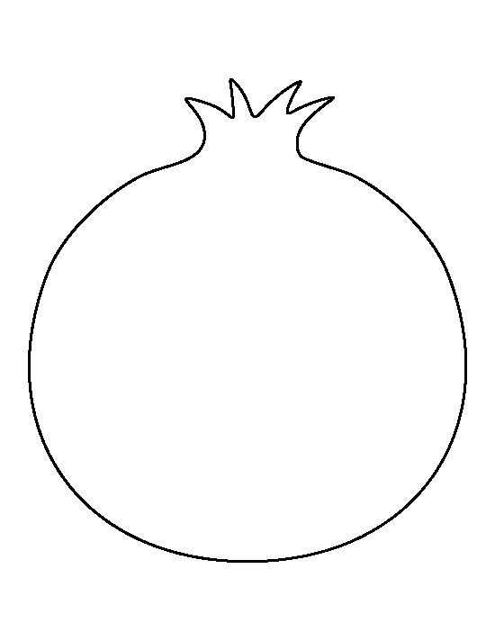 Pomegranate pattern. Use the printable outline for crafts ...
