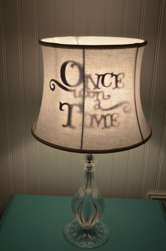 Once Upon a time lamp shade fairytale princess Disney Kids Shadow lamp shade on Etsy, $52.00:
