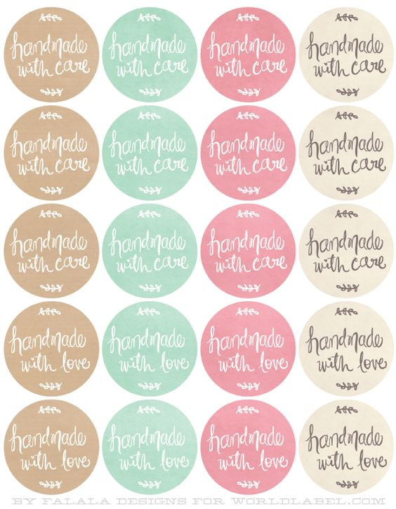 Free Printables HandDrawn labels for Handmade goods.