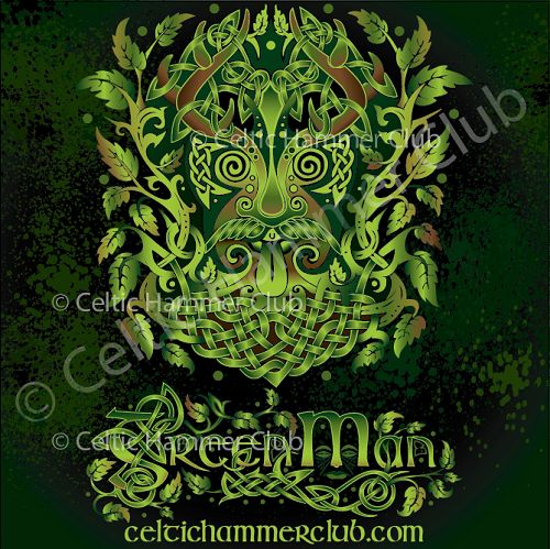 This latest design is of the GREEN MAN! This frondescent fellow is very much a mystery, but it is widely accepted that he is a pre-Christian, Celtic nature spirit representing the cycle of life, and the rebirth of plants and nature in the Spring.