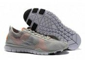 Mens Nike Free TR Twist Running Shoes Light Grey Orange on sale