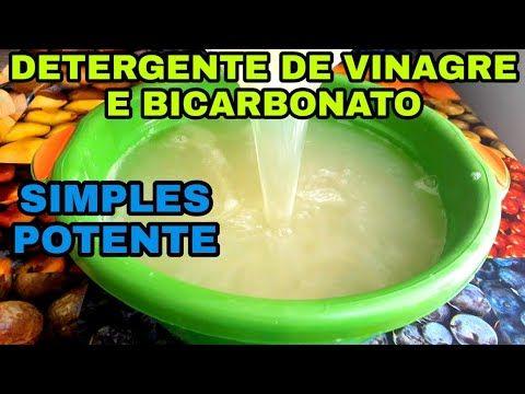Detergente Caseiro De Vinagre E Bicarbonato Bem Barato Youtube