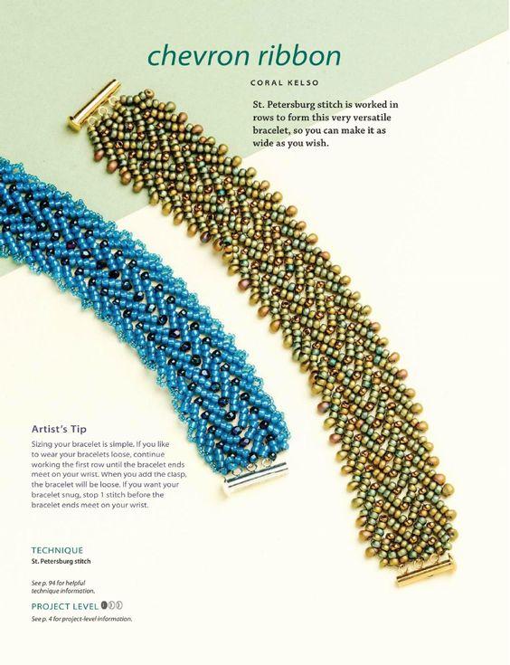 Instructions for St. Petersburg stitch bracelet