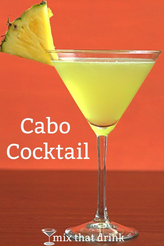 The Cabo Cocktail is tequila with pineapple juice and just a touch of lime. It's similar to some tropical rum-based drink recipes, but the tequila makes for a nice change. Perfect for warm weather.