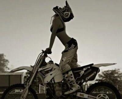 Motocross Girl - Pants, Boots, Helmet, Bra