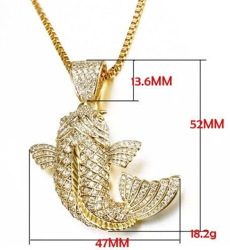 14k gold koi fish necklace and koi fish pendant forsale