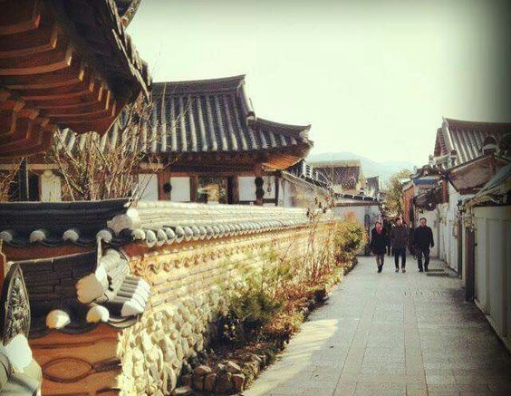 Hanok village in Jeonj Korea