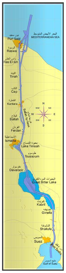 Suez Canal Map: