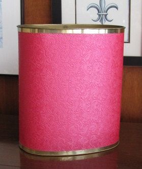 Hey, I found this really awesome Etsy listing at https://www.etsy.com/listing/185760417/vintage-hot-pink-waste-paper-basket-save
