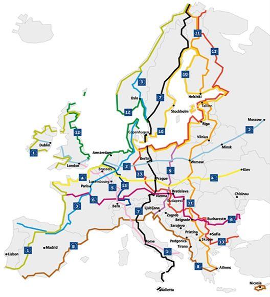 """""""EuroVelo"""": A rede de 14 ciclovias que conectará 43 países da Europa"""