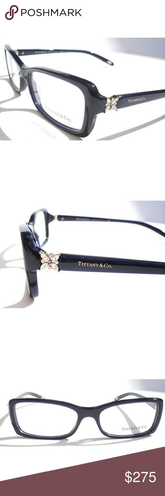 Tiffany & CO Eyeglasses Authentic  Tiffany & Co Eyeglasses  Dark blue frame  Size 53-16-140 Includes original case only Tiffany & Co. Accessories Glasses