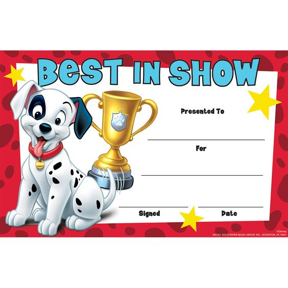 sign letters 101 dalmatians best in show recognition awards eureka 24852