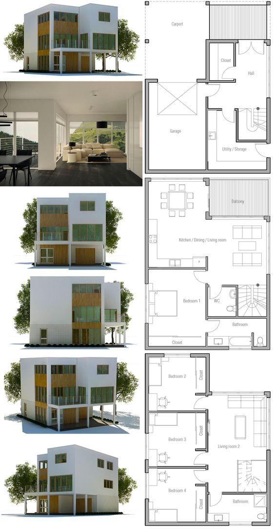 Modern Minimalist House Plan | House Plans, Contemporary Modern Houses |  Pinterest | Modern minimalist house, Minimalist house and Modern minimalist
