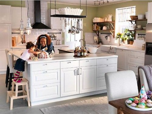 kitchen island with lots of storage: