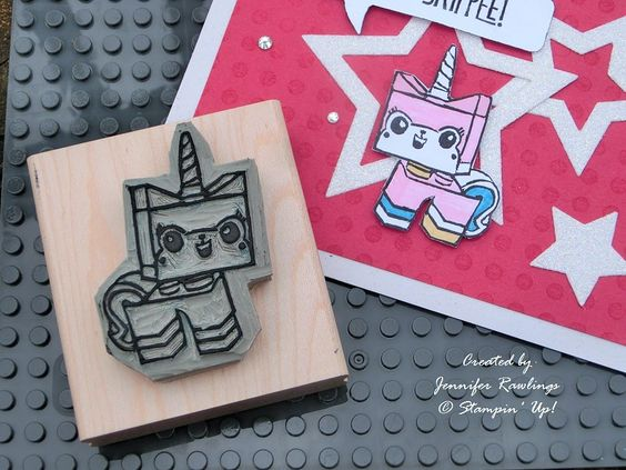 Stamp carved by Jennifer Rawlings: Cards I D, Stampinup Lego, Crafty Cards Undefined, Card Creations, Card Ideas, Card Catalog