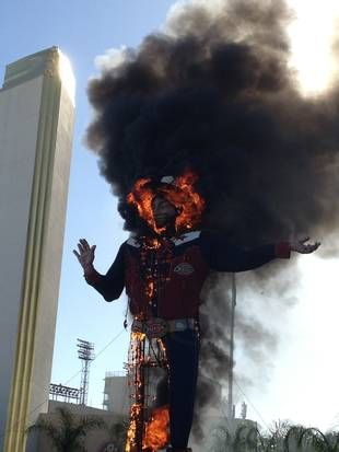 """An icon succumbs. A staple photo opp for State Fair visitors from around the world, Big Tex was featured in a 2004 episode of """"King of the Hill."""""""