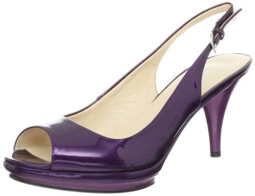 NEW MANOLO BLAHNIK CAROYNE PURPLE CROCODILE SLINGBACK HEELS ...