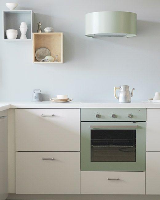 Krem kuhinja u seoskom stilu s crnim radnim pločama U kombinaciji - udden küche ikea