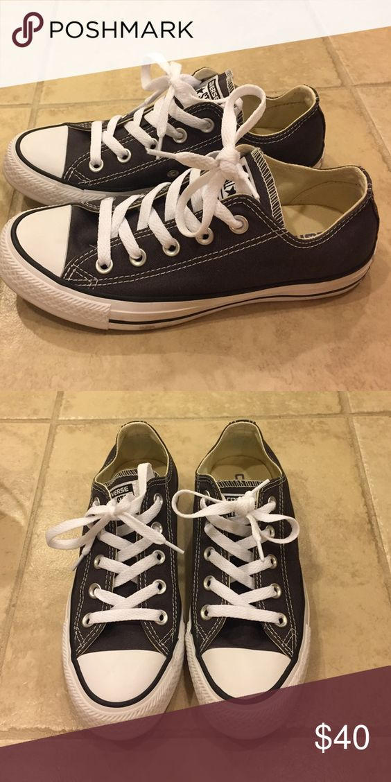 Converse grey low tops. Grey converse low tops. Brand new condition no signs of wear. Converse Shoes Athletic Shoes