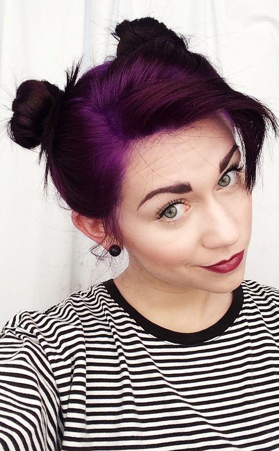 Purple hair thanks to Pravana Vivids