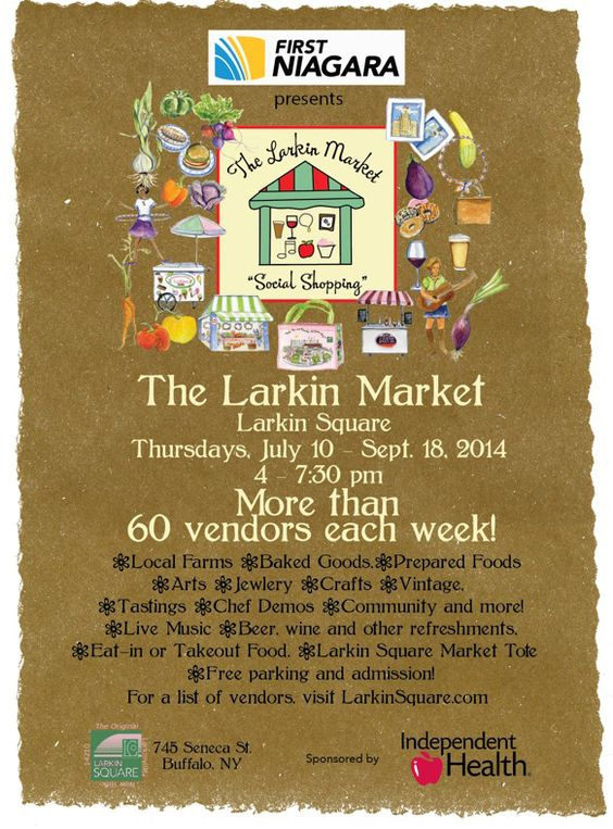 The new Larkin Market at Larkin Square launches on Thursday, July 10, 2014! http://www.larkinsquare.com/