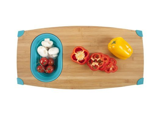 Over-the-Sink Bamboo Cutting Board