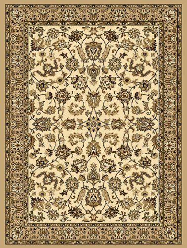 "Creative Home Traditional Classics Area Rug 12002-650 Ivory/Beige Bordered 5' 3"" x 7' 5"" Rectangle Creative Home"