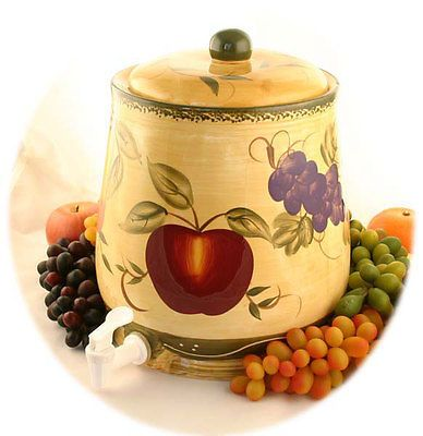 Tuscan Collection Deluxe Hand-Painted Water Jar