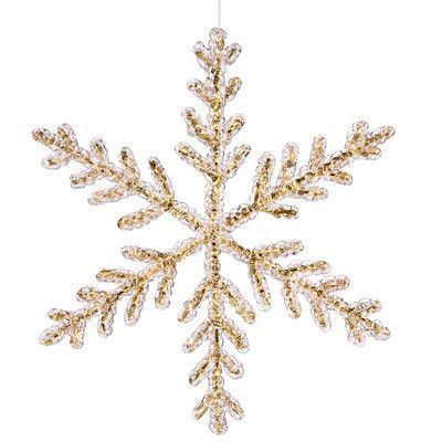 Vickerman Icy Crystal Glitter Large Snowflake Christmas Ornament Color: