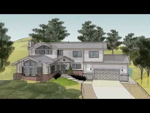 SketchUp 3D House Animation in HD - YouTube