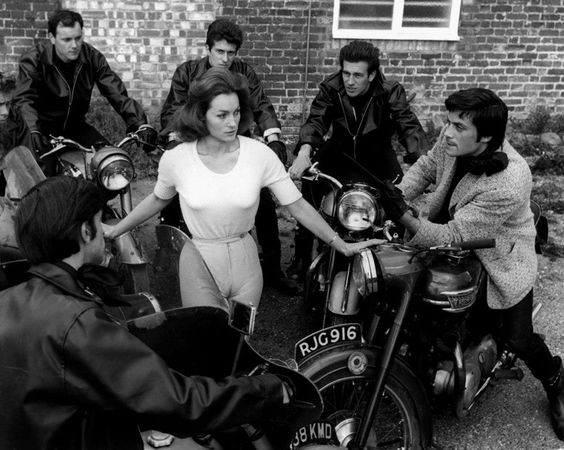 1963 These Are The Damned – Shirley Anne Field & Oliver Reed ('via freedomcyclelasvegas)