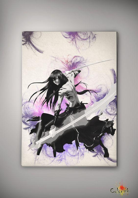 D.Gray-man Anime Manga Watercolor Print Poster Allen Walker Yu Kanda Lenalee Lee