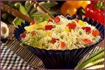 Salade de riz à la goberge