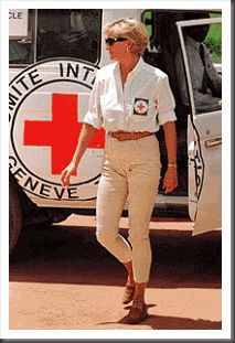 Diana on a visit to Angola early in 1997, as part of an international campaign to ban landmines and de-mine areas where landmines remain.