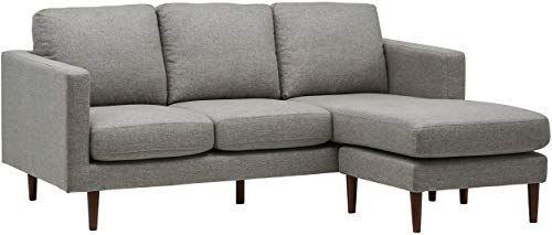 New Rivet Revolve Modern Upholstered Sofa Reversible Sectional