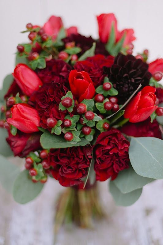 Blossom Sweet February 2012 Red Bouquet Wedding Carnation