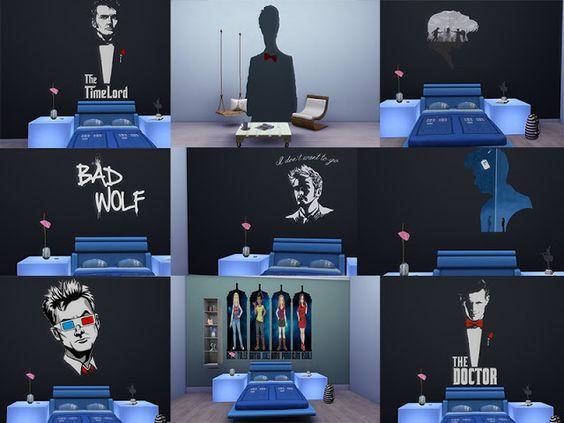 Sims 4 CC's - The Best: Doctor Who Sticker by Schweinsteiger31